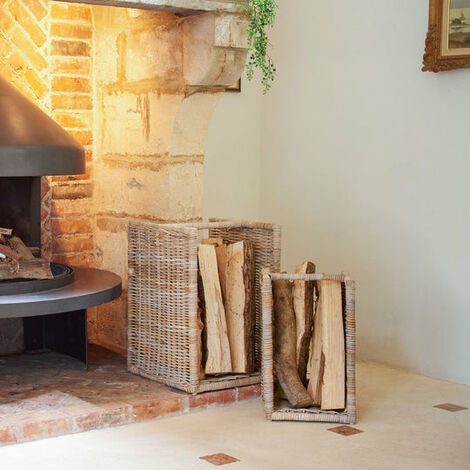 Key Largo Set Of 2 Standing Log Baskets