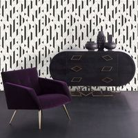 Keyy Hoppen Black & White Linear Geometric Designer Wallpaper (Was £25)