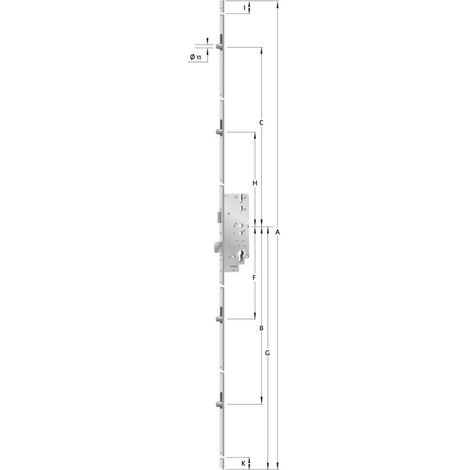 KFV Mehrfachverriegelung Nr.8772F verz.