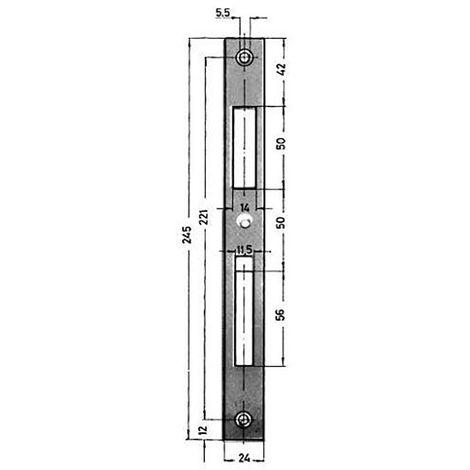 KFV Schliessblech Nr 0129 03 24/245X24X2 mm verz