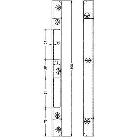 KFV Schliessblech Nr.17 300 hell verzinkt