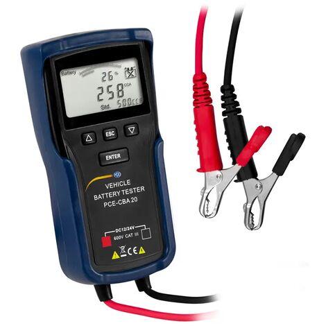 KFZ-Batterietester PCE-CBA 20 für 12 V und 24 V Starterbatterien von