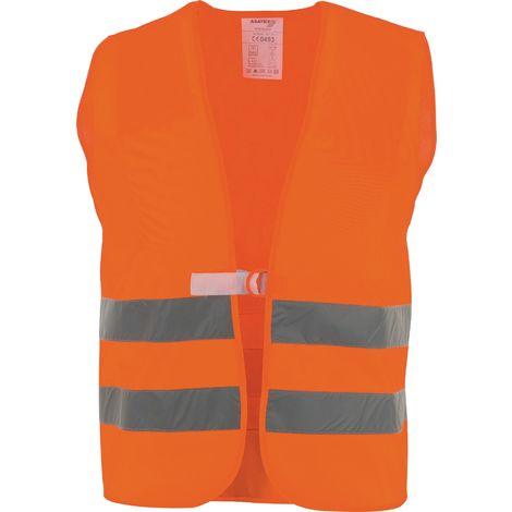 KFZ Warnweste Sicherheitsweste Polyester gelb oder orange Unigröße Klettverschluss