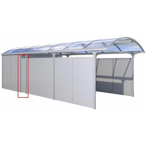 """KGT Carport """"Elbe"""" Seitenelement """"AVB"""" silber 0,48 x 1,75 x 0,04 m (B x H x T)"""