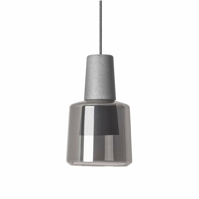 Khoi Pendelleuchte, Aluminium und Glas, zementgrau - 05-LEDS C4
