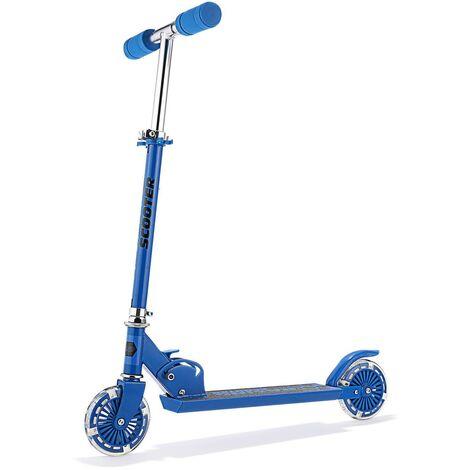 Kick Trottinette Hauteur réglable enfants Bleu