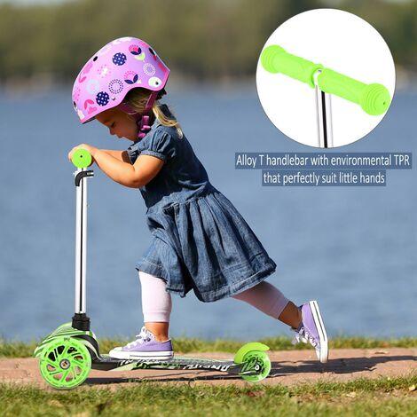 Kick Trottinette Hauteur réglable pour Enfants vert