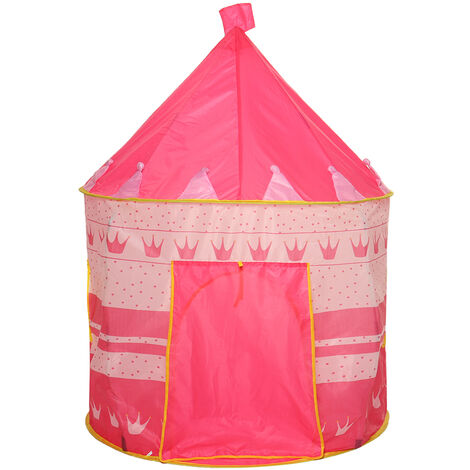 Kid Castle Play Tent Outdoor Indoor Portable House pink