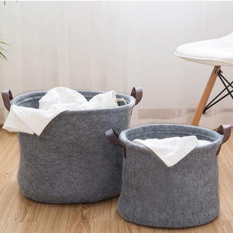Kid Toy Box Storage Washing Clothes Bedroom Laundry Basket Bin Hamper Baby Bag Grey S Ct0018