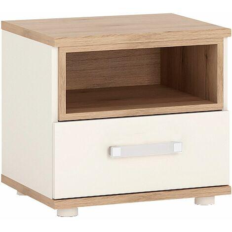 Kiddie 1 Drawer bedside Cabinet With Opalino Handles