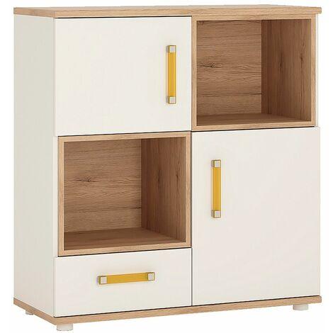 Kiddie 2 Door 1 Drawer Cupboard with 2 open shelves
