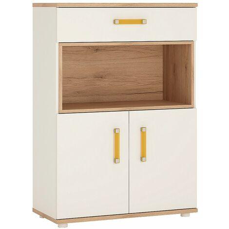 Kiddie 2 Door 1 Drawer Cupboard with open shelf