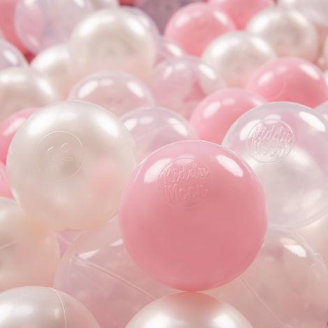 KiddyMoon 200 ∅ 7Cm Balles Colorées Plastique Pour Piscine Enfant Bébé Fabriqué En EU, Ensembles multicolores