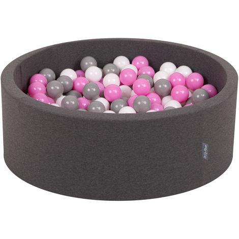 KiddyMoon 90X30cm/300 Balles ∅ 7Cm Piscine À Balles Pour Bébé Rond Fabriqué En UE, Multicolore