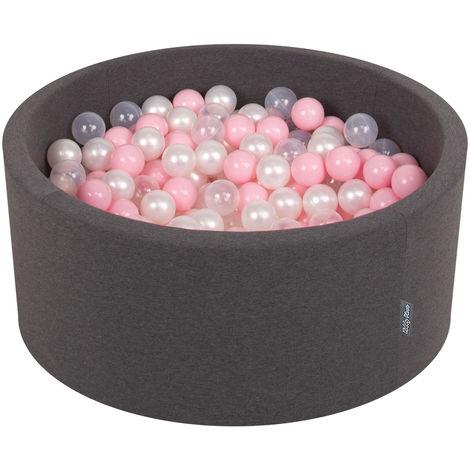 KiddyMoon 90X40cm/300 Balles ∅ 7Cm Piscine À Balles Pour Bébé Rond Fabriqué En UE