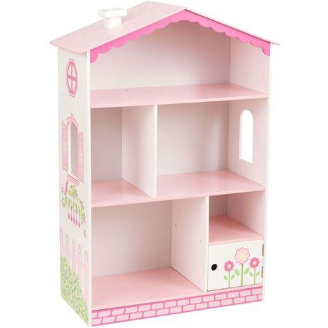 KidKraft Bookcase Dollhouse Cottage 66.68 x 29.85 x 96.52 cm - Multicolour