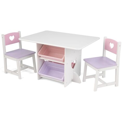 KidKraft Heart Table with 2 Chairs Set