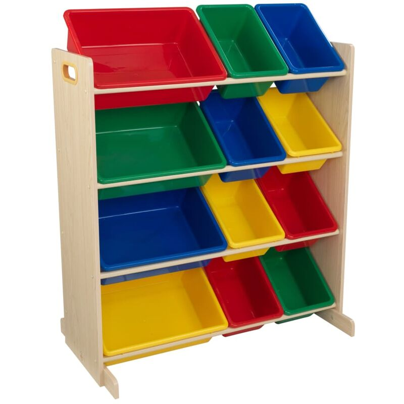 Image of KidKraft Toy Storage Unit Sort It & Store It Primary and Natural - Multicolour