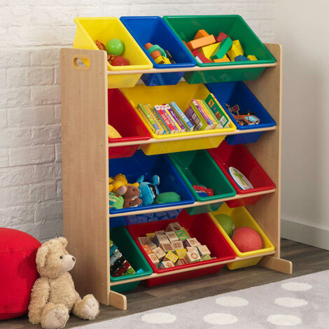 KidKraft Toy Storage Unit Sort It & Store It Primary and Natural - Multicolour