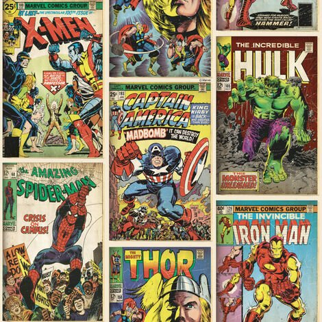 """main image of """"Kids at Home Carta da Parati Marvel Action Heroes - Multicolore"""""""