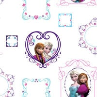 Kids at Home Papel de pared Frozen Frames blanco 70-539