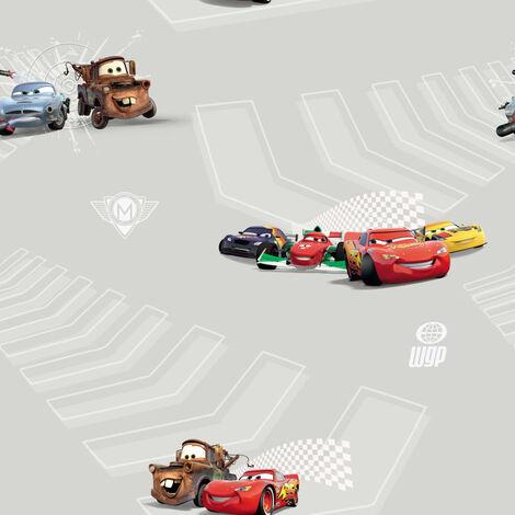 Kids at Home Papier peint Cars 2 Gris marron et rouge