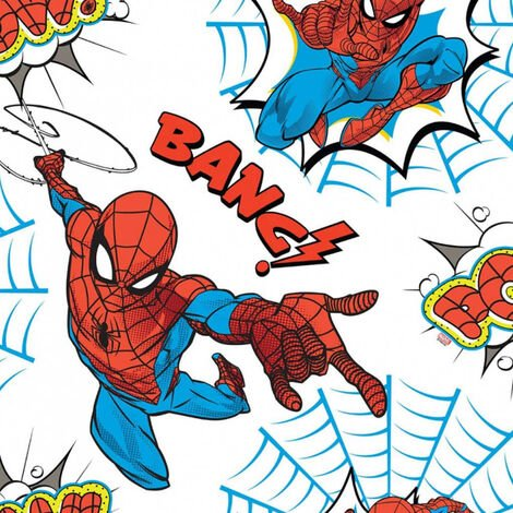 Kids at Home Wallpaper Spiderman Pow White