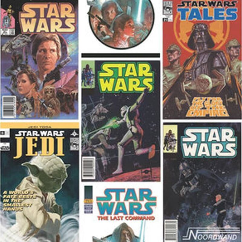 Kids At Home Wallpaper Star Wars Fronts Multicolour