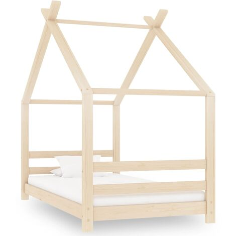 Kids Bed Frame Solid Pine Wood 80x160 cm