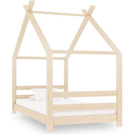 Kids Bed Frame Solid Pine Wood 80x160 cm
