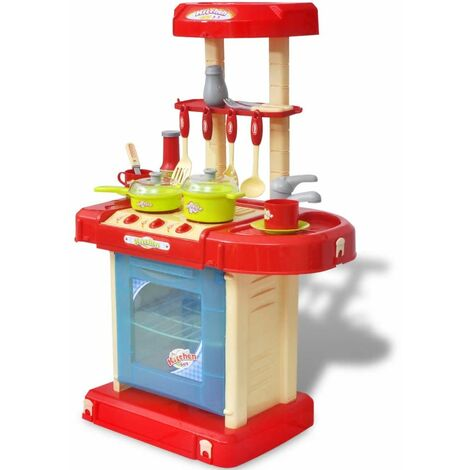 Kids/Children Playroom Toy Kitchen with Light/Sound Effects