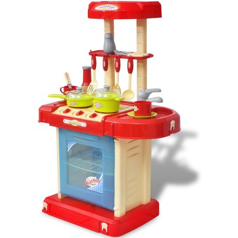 Kids/Children Playroom Toy Kitchen with Light/Sound Effects - Multicolour
