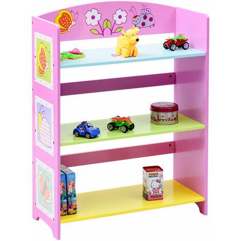 Kids Children Toy Storage Book Shelf Bookcase Rack Playroom Bookshelf Organizer