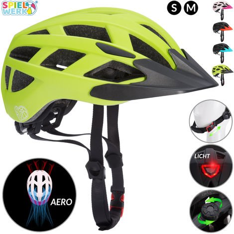 Kids Cycling Helmet Bike Light LED Safety Boys Girls Bicycle Skateboard Scooter