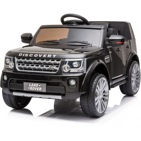 Kids Electric Ride On Land Rover Discovery 12v Single Seat - Black