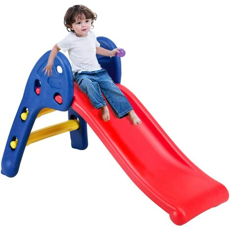 Kids Folding My First Plastic Slide Climb Indoor Outdoor Children Toy Storage