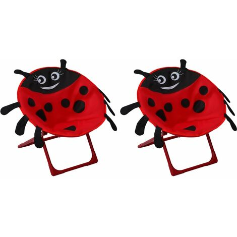 Kids' Garden Chairs 2 pcs Red Fabric