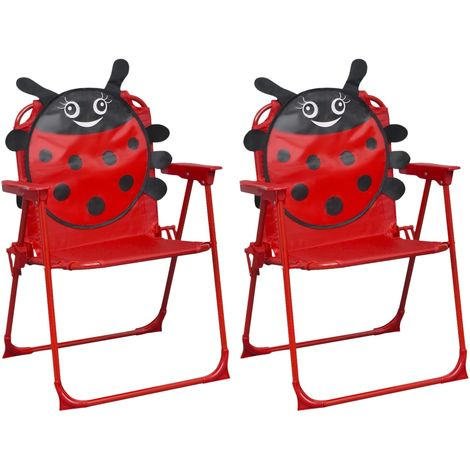 Kids' Garden Chairs 2 pcs Red Fabric