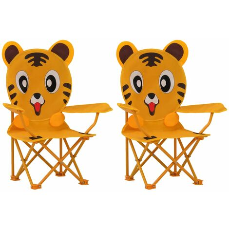 Kids' Garden Chairs 2 pcs Yellow Fabric