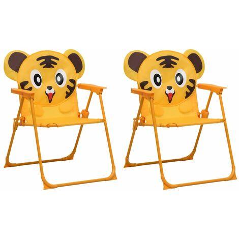 Kids' Garden Chairs 2 pcs Yellow Fabric - Yellow