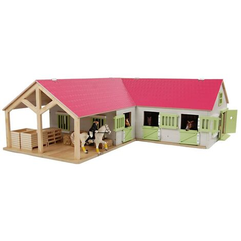 Kids Globe Horse Stable 1:24 Pink - Multicolour