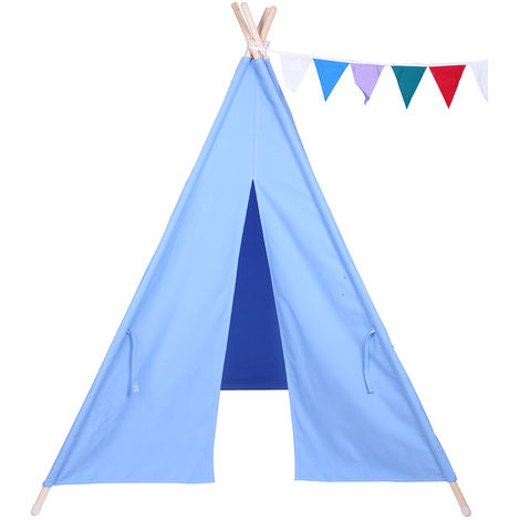 KIDS Indian Teepee Tent Canvas Children Wigwam PlayHouse Outdoor