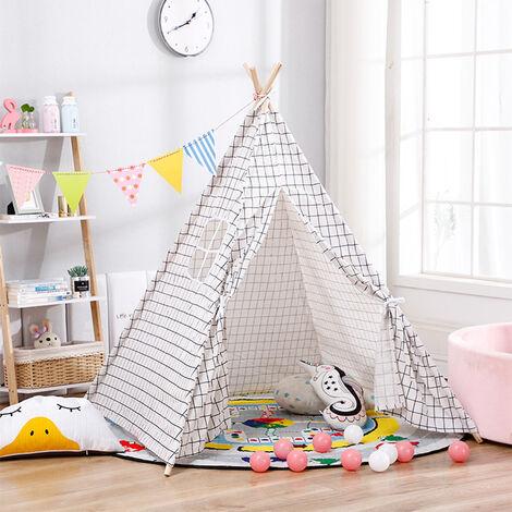 Kids Indian Teepee Tent Wigwam Indoor Outdoor Play House