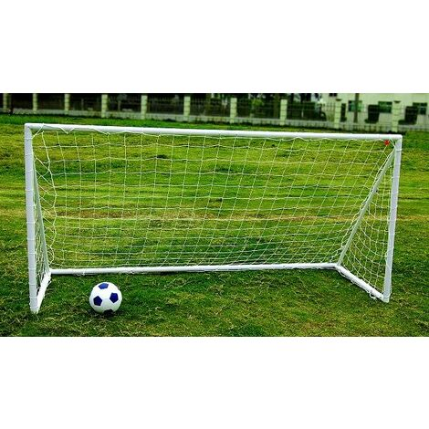 Kids Junior Portable White Football Goal Inc Net Clips & Ground Pegs