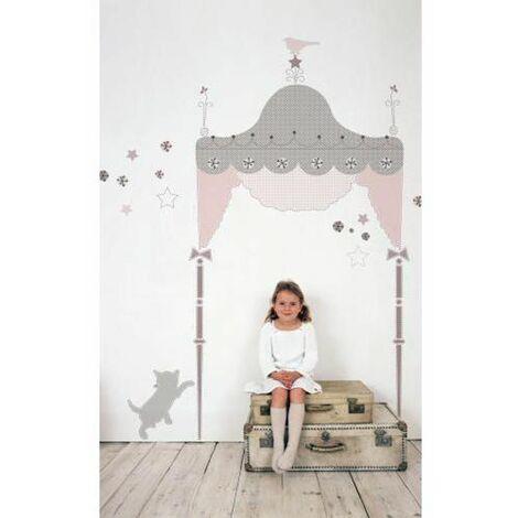 KIDS LAB PRINCESSE - Stickers repositionnables géants tête de lit princesse pour enfant - Multicolore