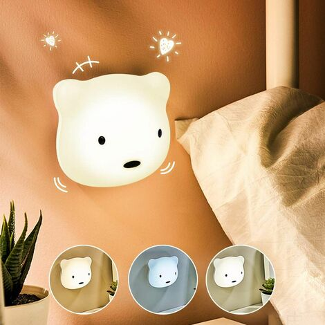 Kids LED Night Light, 3M Baby Night Light, USB Rechargeable Night Light with Touch Control, Silicone Lamp, Baby Gift, Birthday Gift, Christmas - with Yellow and White Light