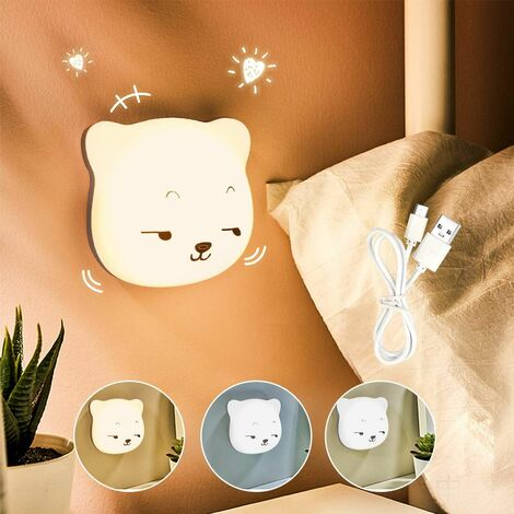 Kids LED Night Light 3M Night Light Baby Touch Lamp for Bedroom, Bedside Lamp with Yellow & White Light & Touch Switch Night Light for Sleep