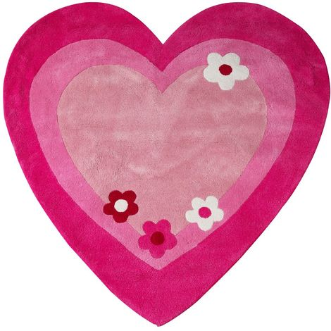 Kids love heart rug,100% cotton,hand tufted