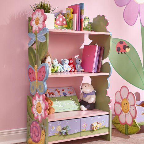 Fantasy Fields Magic Garden Wooden Kids Bookcase | Hand Crafted & Painted | W-7500A