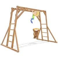 Kids Monkey Bars Pressure Treated Childrens Wooden Climbing Frame UK